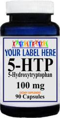 Private Label 5-HTP 100mg 90caps or 180caps Private Label 12,100,500 Bottle Price