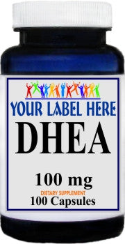 Private Label DHEA 100mg 100caps or 200caps Private Label 25,100,500 Bottle Price