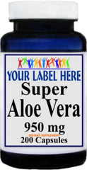 Private Label Aloe Vera 950mg 200ct Private Label 12,100,500 Bottle Price