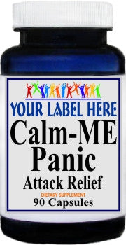 Private Label Calm-Me Panic Attack Relief 90caps Private Label 12,100,500 Bottle Price