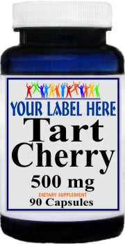 Private Label Tart Cherry 500mg 90caps or 180caps Private Label 25,100,500 Bottle Price