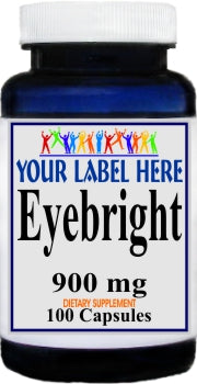 Private Label Eyebright 900mg 100caps Private Label 25,100,500 Bottle Price