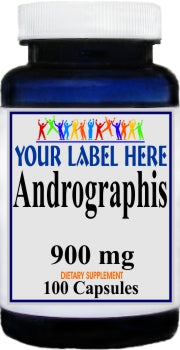 Private Label Andrographis 900mg 100caps Private Label 12,100,500 Bottle Price