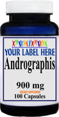 Private Label Andrographis 900mg 100caps or 200caps Private Label 12,100,500 Bottle Price