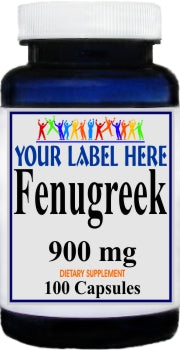 Private Label Fenugreek 900mg 100caps Private Label 12,100,500 Bottle Price
