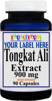 Private Label Tongkat Ali Extract 900mg 90caps or 180caps Private Label 25,100,500 Bottle Price