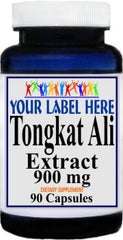 Private Label Tongkat Ali Extract 900mg 90caps or 180caps Private Label 12,100,500 Bottle Price