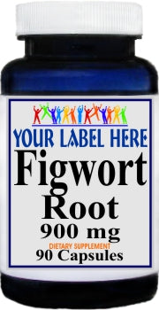 Figwort Root 900mg 90caps Private Label 25,100,500 Bottle Price