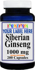 Private Label Siberian Ginseng 1000mg 200caps Private Label 12,100,500 Bottle Price