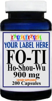 Private Label Fo-Ti Ho-Shou-Wu 900mg 200caps Private Label 12,100,500 Bottle Price