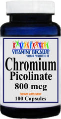 Private Label Chromium Picolinate 800mcg 100caps or 200caps Private Label 25,100,500 Bottle Price