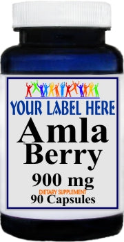 Private Label Amla Berry 900mg 90caps Private Label 25,100,500 Bottle Price
