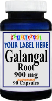 Galangal Root 900mg 90caps Private Label 25,100,500 Bottle Price