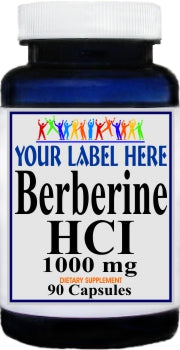 Private Label Berberine HCI 1000mg 90caps or 180caps Private Label 12,100,500 Bottle Price
