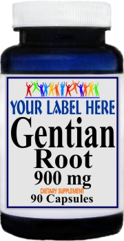 Gentian 900mg 90caps Private Label 25,100,500 Bottle Price