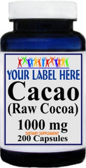 Private Label Cacao 1000mg 200caps Private Label 12,100,500 Bottle Price