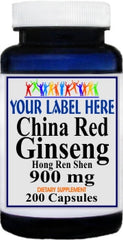 Private Label China Red Ginseng 900mg 200caps Private Label 12,100,500 Bottle Price