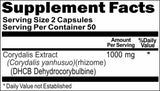 Private Label Corydalis Extract DHCB 1000mg 100caps or 200caps Private Label 12,100,500 Bottle Price