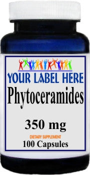Phytoceramides 350mg 100caps or 200caps Private Label 100 Bottle Price