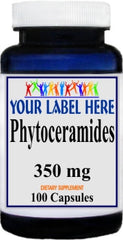 Phytoceramides 350mg 100caps or 200caps Private Label 25,100,500 Bottle Price