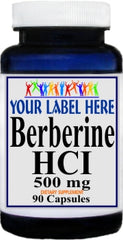 Private Label Berberine HCI 500mg 90caps or 180caps Private Label 12,100,500 Bottle Price