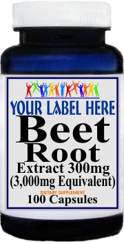 Private Label Beet Root Extract Equivalent 3000mg 100caps or 200caps Private Label 12,100,500 Bottle Price