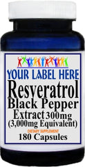 Private Label Resveratrol Extract Black Pepper Equivalent 3000mg 180caps Private Label 12,100,500 Bottle Price
