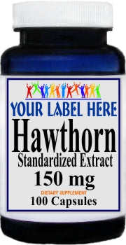 Private Label Hawthorn Standardized Extract 150mg 100caps Private Label 12,100,500 Bottle Price