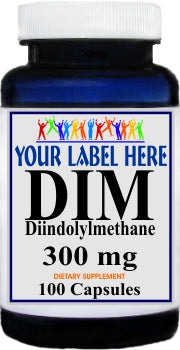 Private Label DIM 300mg 100caps or 200caps Private Label 12,100,500 Bottle Price