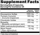 Private Label Glucosamine Chondroitin Turmeric Curcumin Black Pepper 100caps or 200caps Private Label 12,100,500 Bottle Price