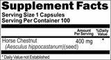 Private Label Horse Chestnut 400mg 100caps or 200caps Private Label 12,100,500 Bottle Price