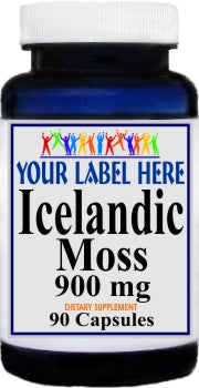 Icelandic Moss 900mg 90caps Private Label 25,100,500 Bottle Price