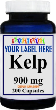 Private Label Kelp 900mg 200caps Private Label 12,100,500 Bottle Price