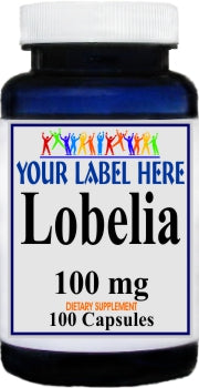 Private Label Lobelia 100mg 100caps Private Label 12,100,500 Bottle Price