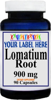 Private Label Lomatium Root 900mg 90caps Private Label 12,100,500 Bottle Price