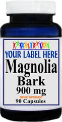 Private Label Magnolia Bark 900mg 90caps or 180caps Private Label 12,100,500 Bottle Price