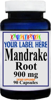 Private Label Mandrake Root 900mg 90caps Private Label 12,100,500 Bottle Price