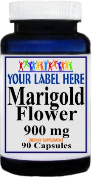 Marigold Flower 900mg 90caps Private Label 25,100,500 Bottle Price