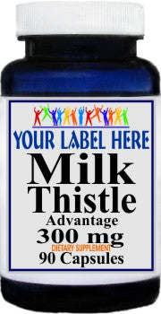 Private Label Milk Thistle Advantage 90caps Private Label 12,100,500 Bottle Price