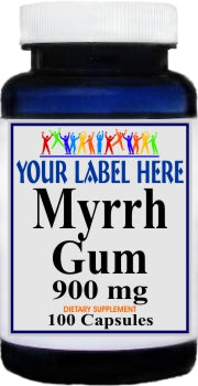 Myrrh Gum 900mg 100caps Private Label 25,100,500 Bottle Price