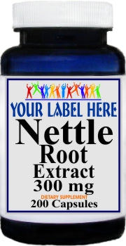 Private Label Nettle Root Standardized Extract 300mg 200caps Private Label 12,100,500 Bottle Price