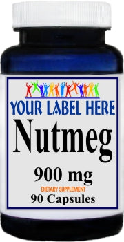 Private Label Nutmeg 900mg 90caps Private Label 12,100,500 Bottle Price