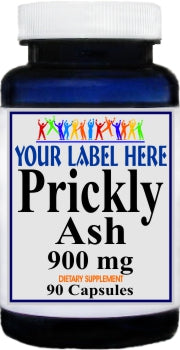 Prickly Ash Bark 900mg 90caps Private Label 25,100,500 Bottle Price