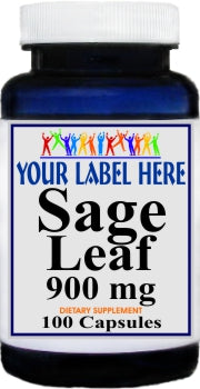 Private Label Sage Leaf 900mg 100caps Private Label 12,100,500 Bottle Price