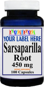 Sarsaparilla Root 450mg 100caps Private Label 100 Bottle Price