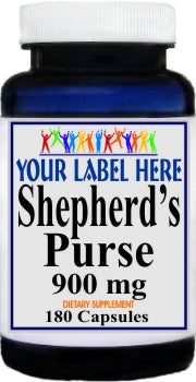 Private Label Shepherd's Purse 900mg 180caps Private Label 12,100,500 Bottle Price