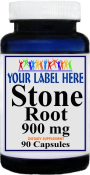 Stone Root 900mg 90caps Private Label 25,100,500 Bottle Price