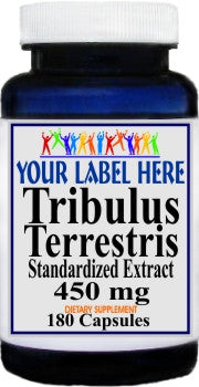 Private Label Tribulus Terestris Standardized Extract 450mg 180caps Private Label 12,100,500 Bottle Price