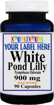 Private Label White Pond Lily Root 900mg 90caps Private Label 12,100,500 Bottle Price