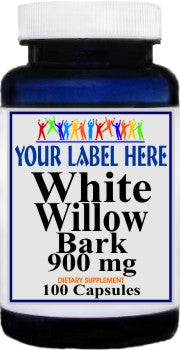 Private Label White Willow Bark 900mg 100caps Private Label 12,100,500 Bottle Price